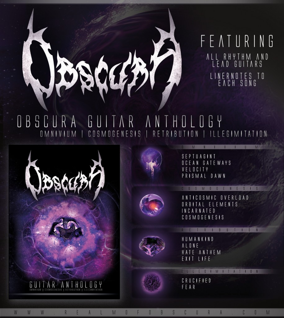 Obscura - Guitar Anthology Book Werbeanzeige