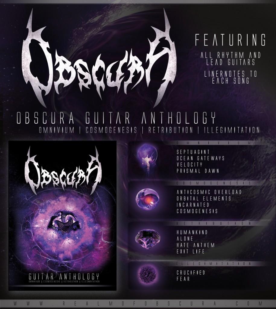 Obscura - Guitar Anthology Book Werbeanzeige