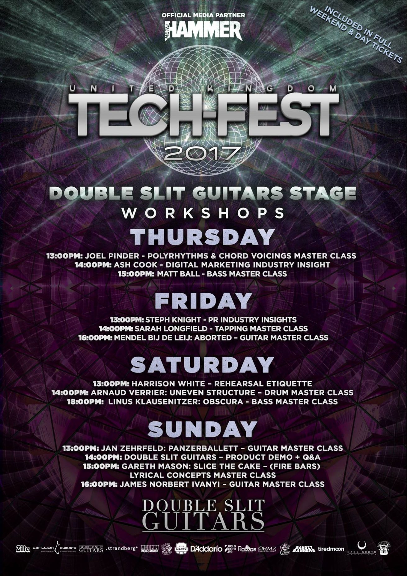 Bass workshops at UK Tech-Metal Fest
