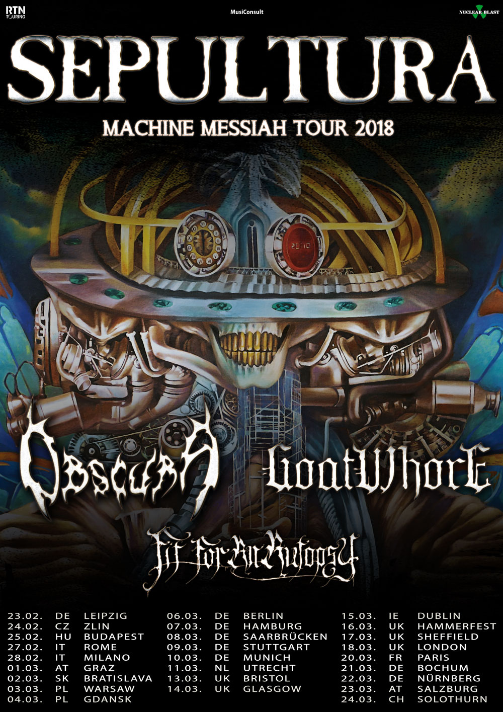 Sepultura Tour 2018