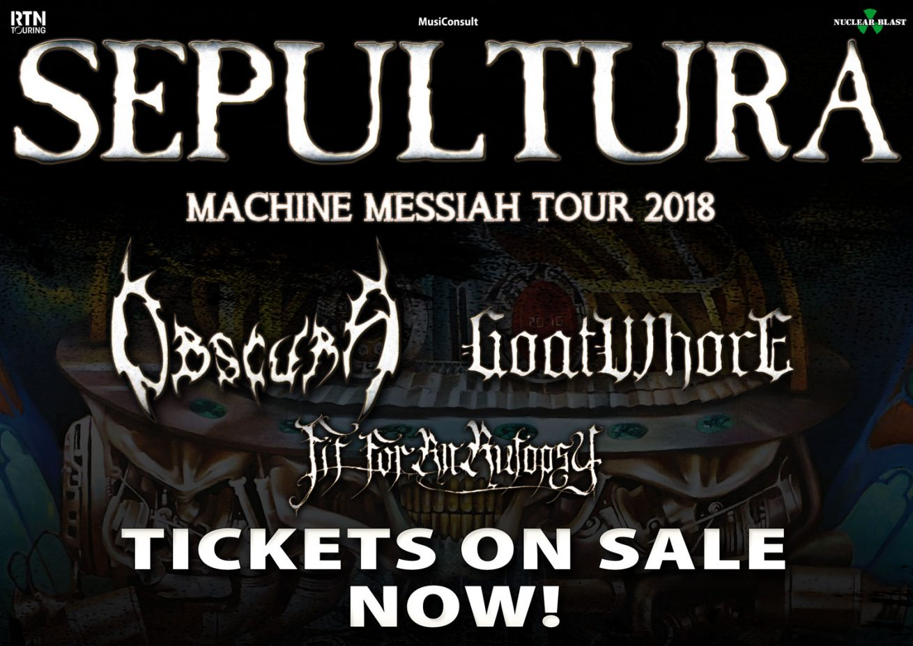 Sepultura | Machine Messiah European Tour 2018