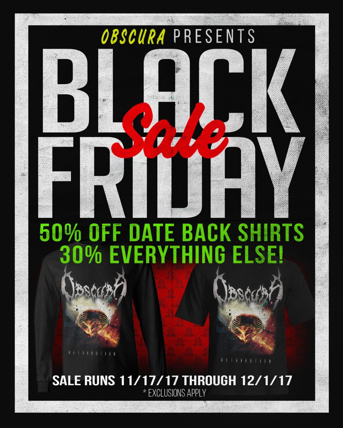 Obscura   Black Friday Sales through JSR Merchandising
