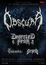 Obscura | 15 Years Anniversary Show - Poster