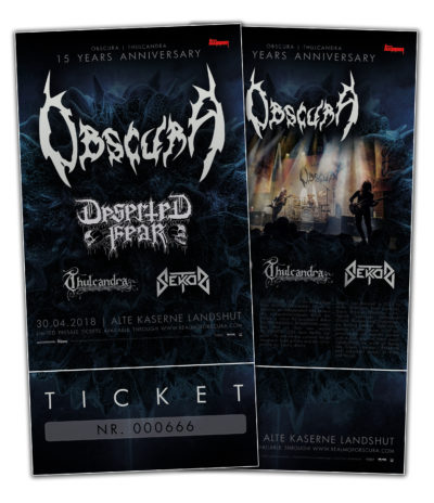 Obscura | 15 Years Anniversary Show - Ticket