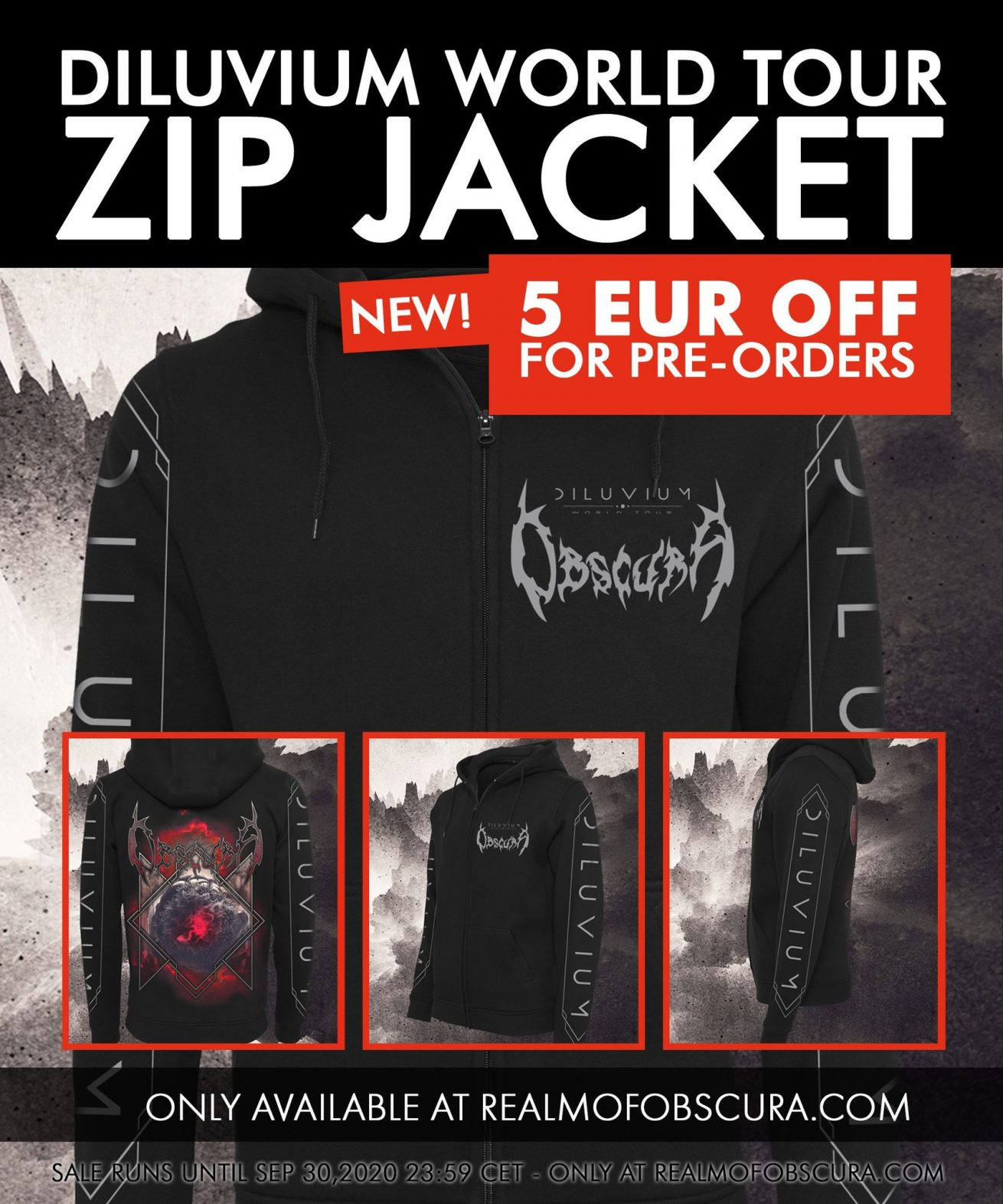 OBSCURA | Diluvium World Tour Zip Jacket